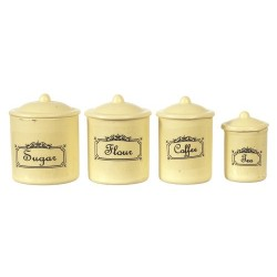 Canister Set/4/ivory