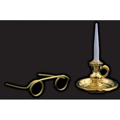 Candle And Spectacles