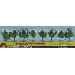 Medium Green Trees 3/4In 8Pcs