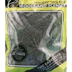 Green Deciduous Trees 36Pcs 3/4In-3In