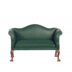 Q.A.footstool/green Leath