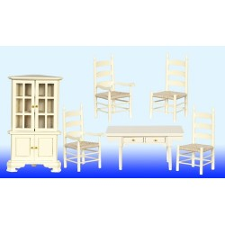 Dining Room Set 6 Cream