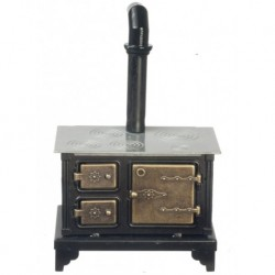 Black Metal Stove W/silv.
