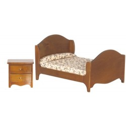 Double Bed W/nitestand
