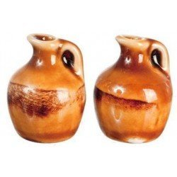 Small Clay Jugs, 2pc