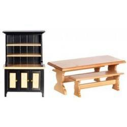 Table/Benches/Hutch Set, 4pc