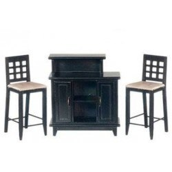 Bar Set, Black, 3pc