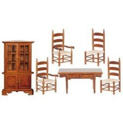 Dining Room Set, Walnut, 6pc