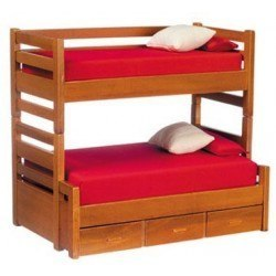 Bunkbed with Trundle, Walnut