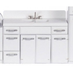 1950's Double Sink, White