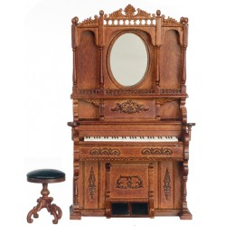 High Back Piano W Mir Stl