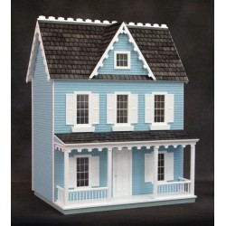 Vermont Farmhouse, Finished, Blue, Milled Mdf