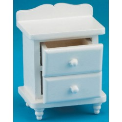 Princess White Night Stand