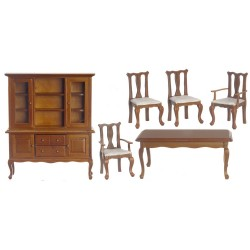 6 Pc Walnut Dining Room Set