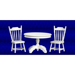 White Table & Chair Set