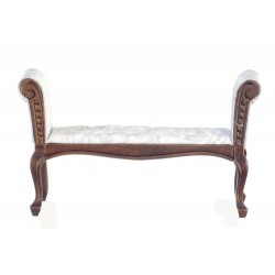 White & Walnut Settee