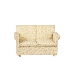 Small Beige Floral Loveseat