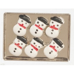 Snowman Cookies On Sheet Pan