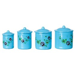 4pc Blue Canister Set