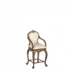 Walnut Chippendale Bar Stool circa 1725-50