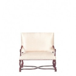 Pink & Mahogany Two Seater Settee