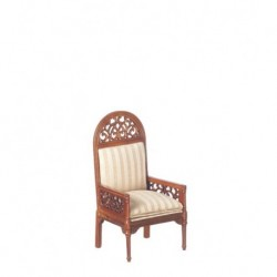 Walnut & Gold Victorian Armchair