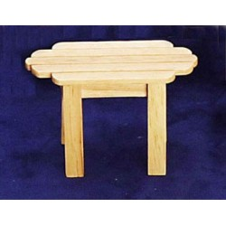 ADIRONDACK TABLE, OAK