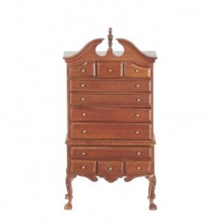 Walnut Chippendale Chest On Chest