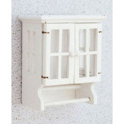 White Bathroom Towel Cabinet