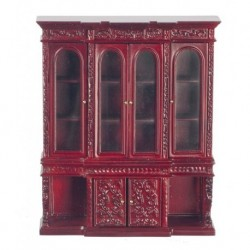 Mahogany Show Cabinet Carved Legs