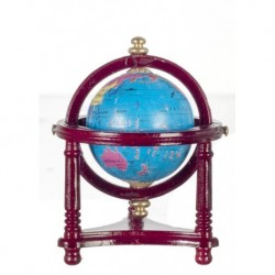 Small Globe with Mahogany Stand