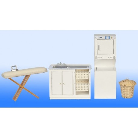 4 pc White Laundry Room Set