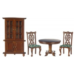 Green & Walnut Dining Room Set