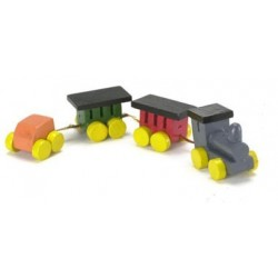 Wood Train Set/4, Colored