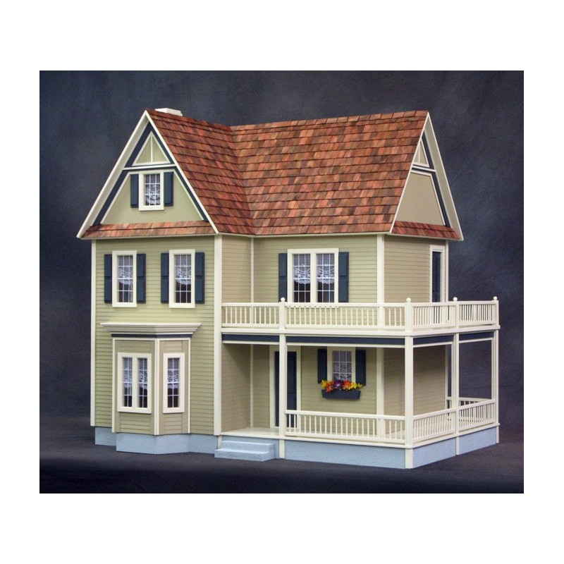 Victoria 39 S 2 Story Farmhouse Milled Mdf Dollhouses