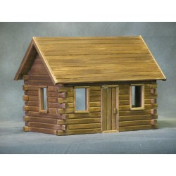 Crockett's Log Cabin Craft Kit, Log Finish
