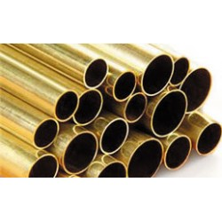 5/16 BRASS ROUND TUBE X 12IN