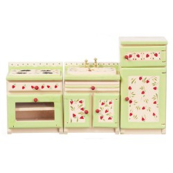 STRAWBERRY APPPLIANCE SET, 3PC