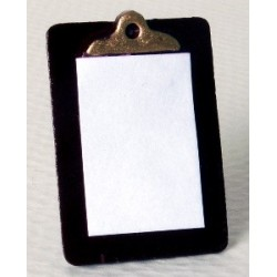 CLIPBOARD W/PAPER 1IN HEIGHT