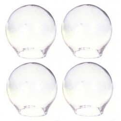 CLEAR GLASS GLOBES, 4/PK