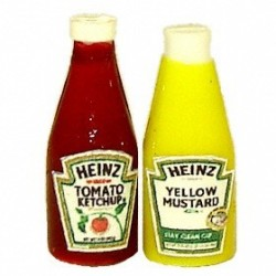 Heinz Ketchup And Yellow Mustard