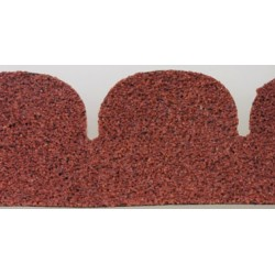 Red Fishscale Asphalt Shingles, 157 Square Inches