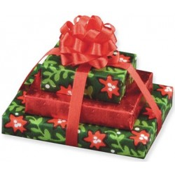 Red/Green Triple Gift with Bow