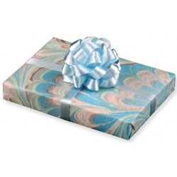 Blue Floral Gift with Bow