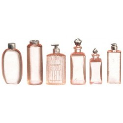 Pink Lotion Bottles, Assorted, 6pc