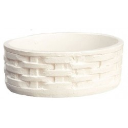 Oval Baskets, White, 6pc