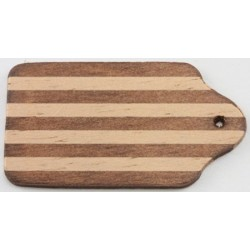 Cutting Board, Dark and Light Wood