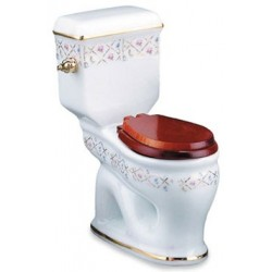 Gold Crosshatch Toilet