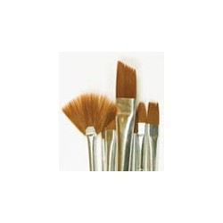 Plaid Brown Nylon Brush Set, 10pc