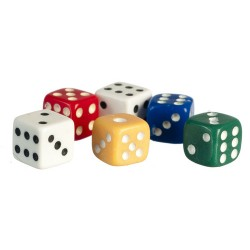 DICE 5MM 6PAIR Assorted Colors